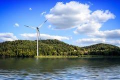 Island wind farm Stock Photos