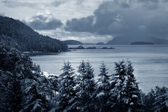 Island Winter Royalty Free Stock Photography