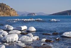 Island in winter sea 12 Royalty Free Stock Photo