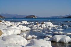 Island in winter sea 4 Royalty Free Stock Photo