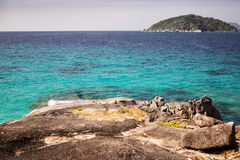 From the island you can see another island of the Similan archip Royalty Free Stock Photo