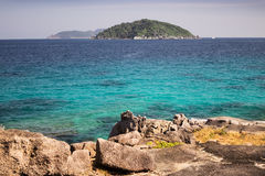 From the island you can see the other Similan island archipelago Stock Photo