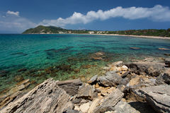 Island Zakynthos. Beautiful beach in Island Zakynthos Royalty Free Stock Photo