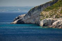 Island Zakynthos. Beautiful sea in Island Zakynthos Stock Photos