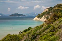 Island Zakynthos. Beautiful view on sea in Island Zakynthos Stock Image
