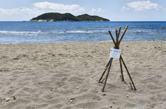 Island of Zakynthos Greece, the turtle nest protection Stock Photo