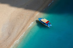 Island Zakynthos. Navagio beach in Island Zakynthos Royalty Free Stock Photography