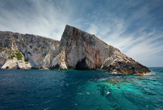Island Zakynthos. Navagio beach in Island Zakynthos Royalty Free Stock Photo