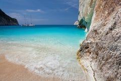 Island Zakynthos. Navagio beach in Island Zakynthos Stock Images