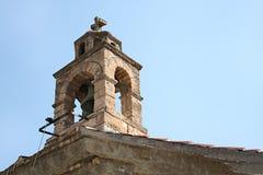 Islander greek belfry at Skopelos island Stock Photos
