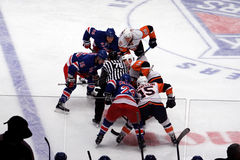 Islanders x Rangers Hockey Game Royalty Free Stock Images