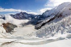 Islandet av Jungfrauen på 4.158 metrar Arkivbild