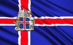 Islandia bandery ilustracji
