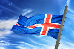 Islandia bandery Obraz Royalty Free