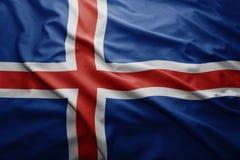 Islandia bandery Zdjęcie Stock