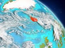 Islandia de la órbita ilustración del vector