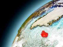 Islandia de la órbita de Earth modelo Foto de archivo libre de regalías