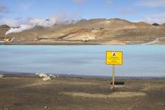 Islandia: Laguna azul caliente Foto de archivo libre de regalías
