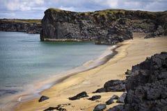 Islandia: playa reservada Imágenes de archivo libres de regalías