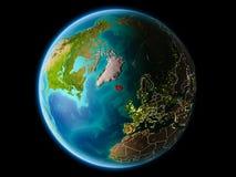 Islandia por la tarde Imagen de archivo libre de regalías