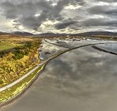 Islandia vista desde arriba - de Vaðlareitur Parc foto de archivo