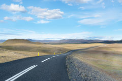 Islandic remote road. Remote road in interior Iceland in the summer time royalty free stock photos