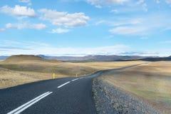 Islandic remote road Royalty Free Stock Photos