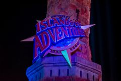Islands of Adventure sign in Citywalk at Universal Studios area . stock images