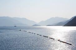 Islands in Aegean sea. Turkey. Marmaris. Blue islands in Aegean sea. Turkey. Marmaris stock images