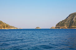 Islands in Aegean sea Royalty Free Stock Photo