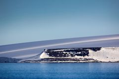 Arctic Islands Glaciers, snowfields and rock outcrops. Islands along British channel. Glaciers, icefall, outlet glacier, snowfields, iceberg and rock outcrops Royalty Free Stock Photography