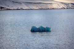 Arctic Islands Glaciers, snowfields, iceberg and rock outcrops. Islands along British channel. Glaciers, icefall, outlet glacier, snowfields, iceberg and rock Royalty Free Stock Photo