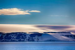 Arctic Islands Glaciers, snowfields and rock outcrops. Islands along British channel. Glaciers, icefall, outlet glacier, snowfields, iceberg and rock outcrops Stock Images