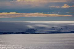 Arctic Islands Glaciers, snowfields and rock outcrops. Islands along British channel. Glaciers, icefall, outlet glacier, snowfields and rock outcrops Stock Photography