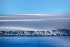 Arctic Islands Glaciers, snowfields, iceberg and rock outcrops. Islands along British channel. Glaciers, icefall, outlet glacier, snowfields and rock outcrops Royalty Free Stock Photo
