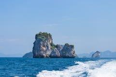 Islands in Andaman Sea. Beautiful Islands in Andaman Sea ,Krabi, Thailand Stock Photo