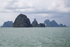 Islands of of Andaman Sea, Phang Nga Bay,  Thailand Royalty Free Stock Photo