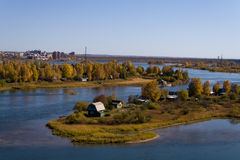 Islands on the Angara River in Irkutsk Stock Photography
