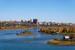 Islands on the Angara River in Irkutsk Royalty Free Stock Photography