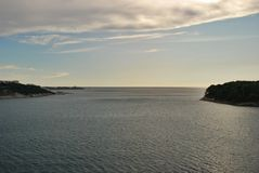 Islands in archipelago of Croatia Stock Image