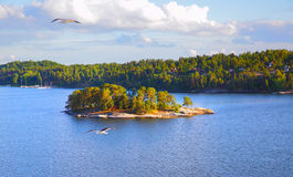 Islands in the archipelago of Stockholm Royalty Free Stock Photography