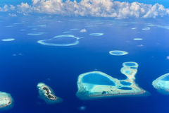 Islands in Baa Atoll, Indian Ocean Stock Photos