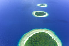 Islands in Baa Atoll, Maldives, Indian Ocean Royalty Free Stock Image