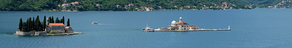 Islands in the Bay of Kotor stock photo