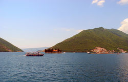 The islands of the bay of Kotor, Montenegro. Stock Photo