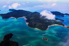 The Islands. Bird eye view for several islands Stock Photo