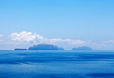 Islands in the blue sea Royalty Free Stock Image