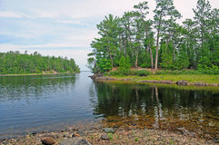 Islands in Canoe Country Royalty Free Stock Images