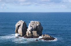 Islands in the Cantabria coastline Royalty Free Stock Photos