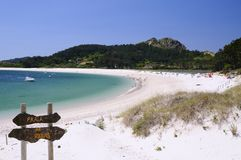 Islands Cies in Vigo, Spain. Stock Images